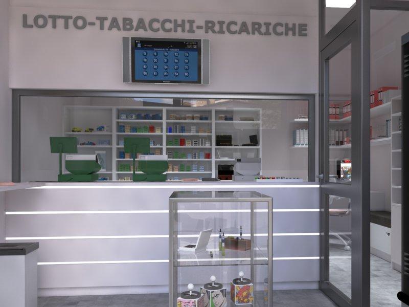 arredamento centro scommesse a palermo - piergi - arredamento ... - Arredamento Moderno Tabaccheria