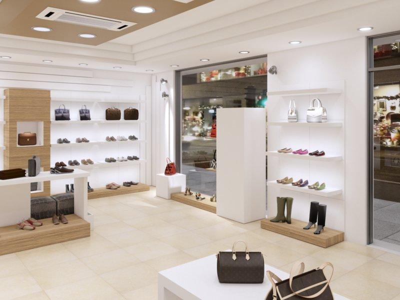 Arredamento negozio di calzature a palermo piergi for Negozi arredamento low cost