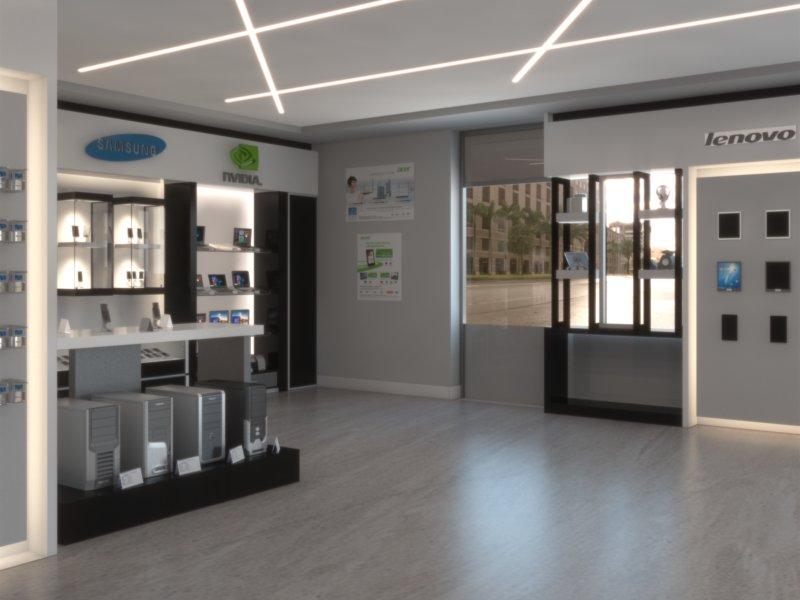 Arredamento negozio d 39 informatica a palermo piergi for Piergi infissi palermo