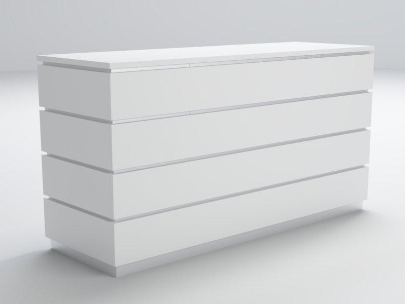 Bancone bianco per negozio piergi arredamento negozi for Arredamento negozi palermo